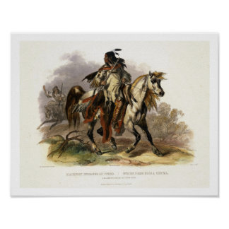 Un Indien Blackfoot à cheval, plaquent 19 du vol. Posters