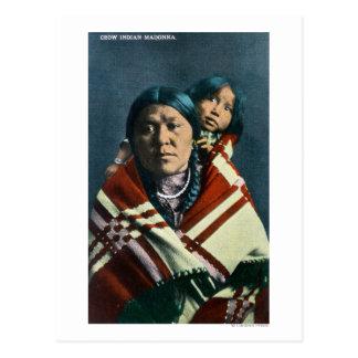 Un Indien Madonna de corneille et enfant Carte Postale