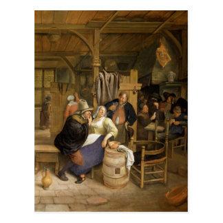 Un intérieur de taverne avec des joueurs de carte