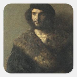 Un invalide, c.1514 (huile sur la toile) sticker carré