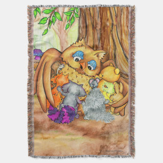 Un jet de tapisserie de leçon de forêt couverture