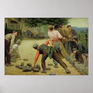 Un jeu de Bourles en Flandre, 1911 Posters
