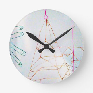 Un jeu de perle en verre de géomètres horloge ronde