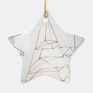 Un jeu de perle en verre de géomètres ornement étoile en céramique