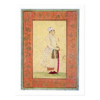 Un jeune noble de la cour de Mughal, du Lar Carte Postale