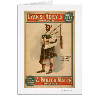 """Un joueur de cornemuse écossais de """"vieux Hoss"""" de Cartes"""