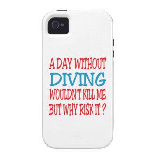 Un jour sans plonger ne me tuerait pas coque iPhone 4