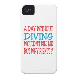 Un jour sans plonger ne me tuerait pas coques iPhone 4