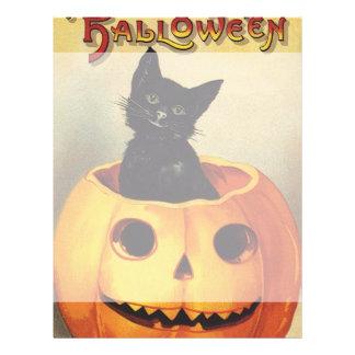 Un joyeux Halloween, chat noir vintage en Prospectus 21,6 Cm X 24,94 Cm