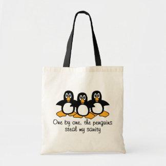 Un la conception drôle d'énonciation de pingouins sac en toile budget