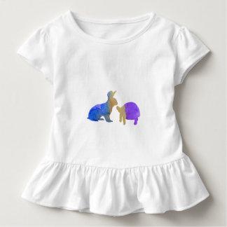 Un lapin et une tortue t-shirt pour les tous petits