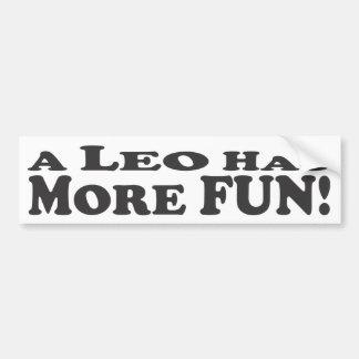 Un Lion a plus d'amusement ! - Adhésif pour pare-c Autocollant De Voiture