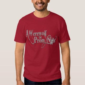 Un loup-garou sur le gris Wordmark de bal de promo T-shirts