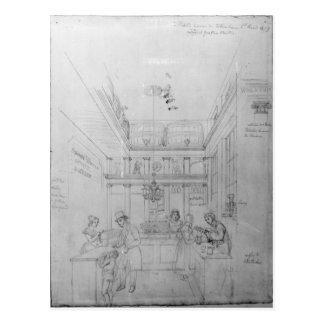 Un magasin de boisson alcoolisée de Londres, 1839 Carte Postale