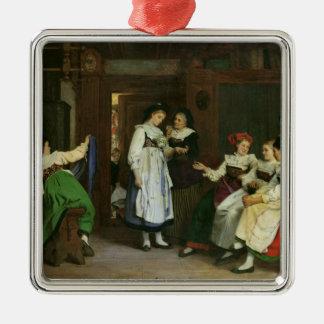 Un mariage en Alsace inférieure Ornement Carré Argenté