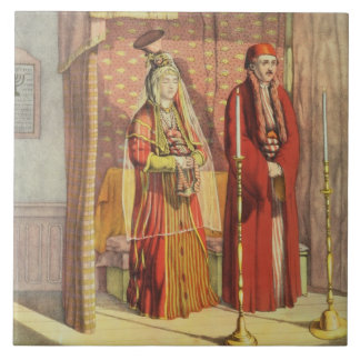 Un mariage juif, gravé par des pasteurs de Charles Grand Carreau Carré