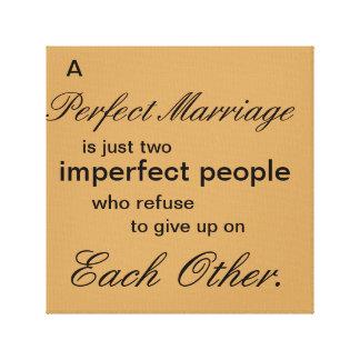 Un mariage parfait toiles tendues