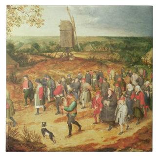 Un mariage rural grand carreau carré