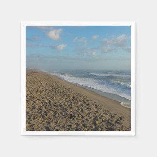 Un matin de plage de cacao serviettes jetables