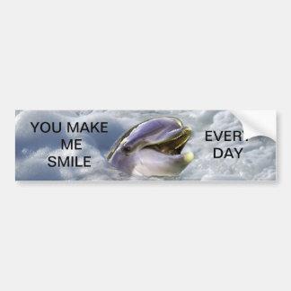 Un meilleur sourire de dauphins autocollant pour voiture