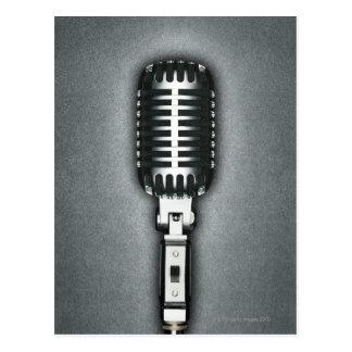 Un microphone classique carte postale