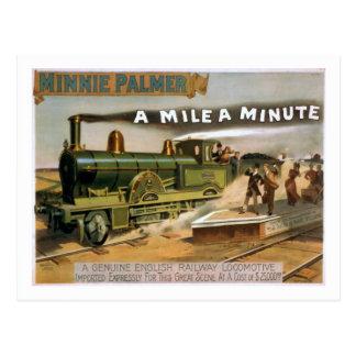 """""""Un mille"""" une carte postale vintage minuscule de"""