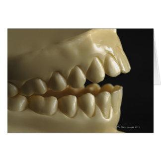 Un modèle dentaire carte de vœux