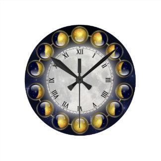 Un mois pendant la vie de l'horloge de lune horloge ronde