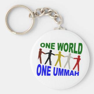Un monde un Ummah Porte-clé Rond