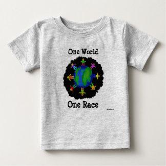 Un monde, une chemise de course t-shirt pour bébé