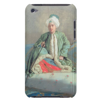 Un monsieur assis sur un divan étui barely there iPod