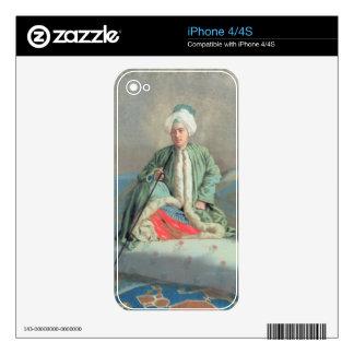 Un monsieur assis sur un divan sticker iPhone 4S