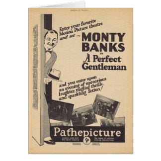 Un monsieur parfait Monty encaisse l'annonce de Carte De Vœux