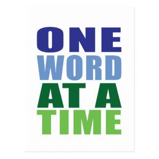 Un mot à la fois carte postale