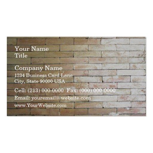 Un mur de briques de couleur claire modèle de carte de visite