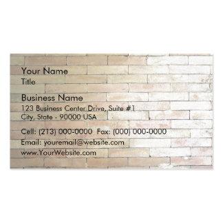 Un mur de briques de couleur claire carte de visite standard
