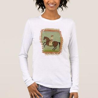 Un noble de Mughal à cheval, c.1790, du Larg T-shirt À Manches Longues
