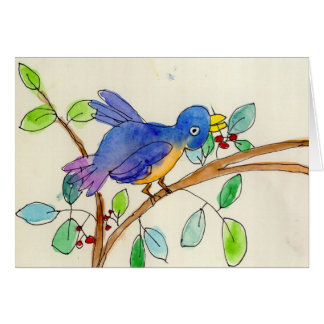 Un oiseau par Elsa Fleisher, âge 8 Cartes De Vœux