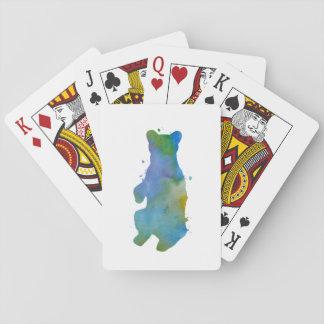Un ours cartes à jouer