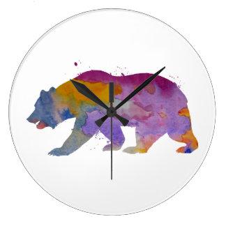 Un ours grande horloge ronde