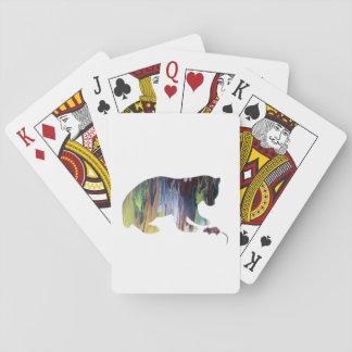 Un ours jeu de cartes