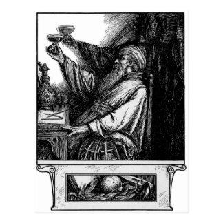 Un pain grillé à la carte postale de la mort