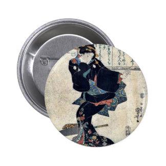 Un par Utagawa, Kuniyoshi Ukiyoe Badges