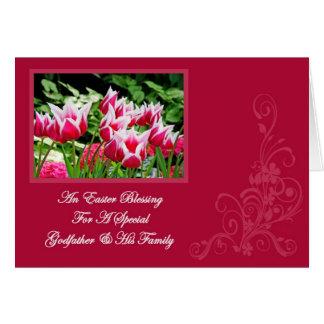 Un parrain de carte de bénédiction de Pâques et sa