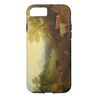 Un paysage avec des bétail et des figures d'un coque iPhone 8/7