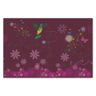 Un peintre de colibri papier mousseline
