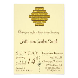 Un petit hunny doux carton d'invitation  12,7 cm x 17,78 cm