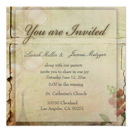 Un petit invitation démodé de mariage