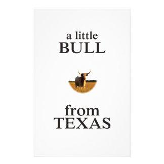 Un petit Taureau du Texas Papier À Lettre Customisé