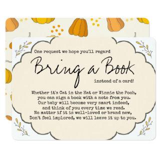 Un peu de cru de citrouille apportent un livre carton d'invitation  12,7 cm x 17,78 cm